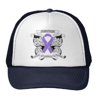 Hodgkin s Lymphoma Survivor Butterfly Strength Hat