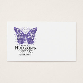 Hodgkin's Disease Butterfly Business Card