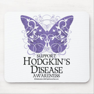 Hodgkin's Disease Butterfly Mouse Pad