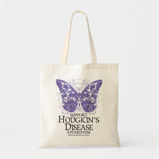 Hodgkin's Disease Butterfly Tote Bag