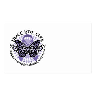 Hodgkin's Disease Butterfly Tribal 2 Business Card Template