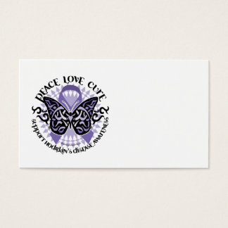 Hodgkin's Disease Butterfly Tribal 2 Business Card