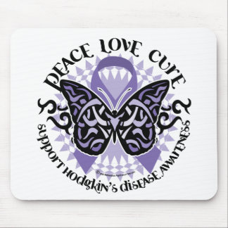 Hodgkin's Disease Butterfly Tribal 2 Mouse Pad