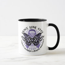 Hodgkin's Disease Butterfly Tribal 2 Mug