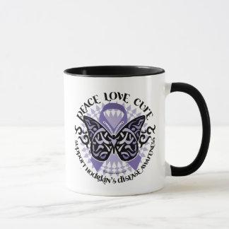 Hodgkin's Disease Butterfly Tribal 2 Mug
