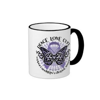 Hodgkin's Disease Butterfly Tribal 2 Ringer Mug