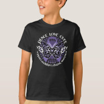 Hodgkin's Disease Butterfly Tribal 2 T-Shirt