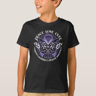 Hodgkin's Disease Butterfly Tribal 2 T-Shirt