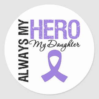 Hodgkin's Disease Daughter Always My Hero Classic Round Sticker
