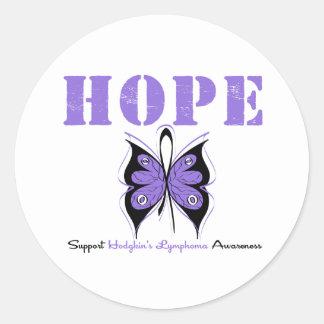 Hodgkin's Disease Hope Butterfly Stickers
