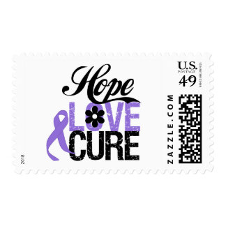 Hodgkins Disease HOPE LOVE CURE Gifts Stamps