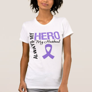 Hodgkin's Disease Husband Always My Hero Tee Shirt