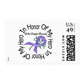Hodgkins Disease In Honor Of My Hero Postage Stamps