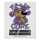 Hodgkin's Disease Paws for the Cure Poster