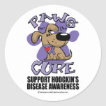 Hodgkin's Disease Paws for the Cure Sticker