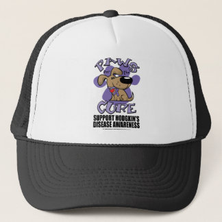 Hodgkin's Disease Paws for the Cure Trucker Hat