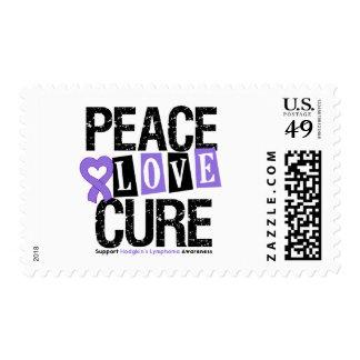 Hodgkin's Disease Peace Love Cure Postage