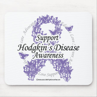 Hodgkin's Disease Ribbon of Butterflies Mouse Pad