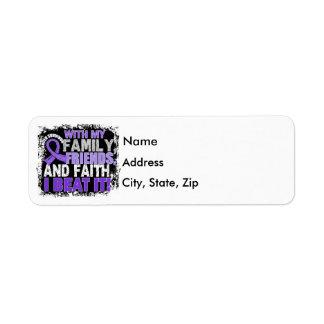 Hodgkin's Disease Survivor Family Friends Faith.pn Label