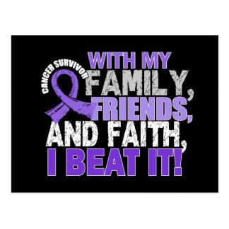 Hodgkin's Disease Survivor Family Friends Faith.pn Postcard