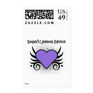 Hodgkin's Disease Survivor Heart Tattoo Postage Stamps