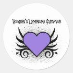 Hodgkin's Disease Survivor Heart Tattoo Sticker