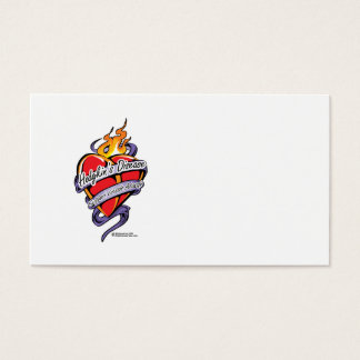 Hodgkin's Disease Tattoo Heart Business Card