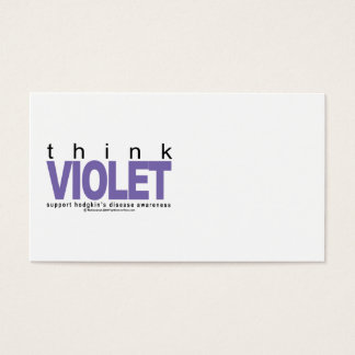 Hodgkin's Disease Think Violet Business Card