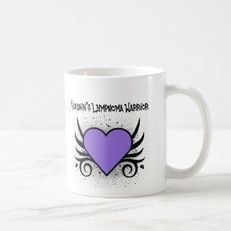 Hodgkin's Disease Warrior Heart Tattoo Classic White Coffee Mug