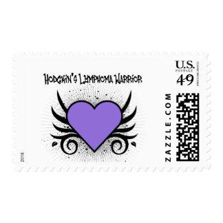 Hodgkin's Disease Warrior Heart Tattoo Postage Stamps