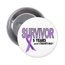 Hodgkins Lymphoma 5 Year Survivor Button