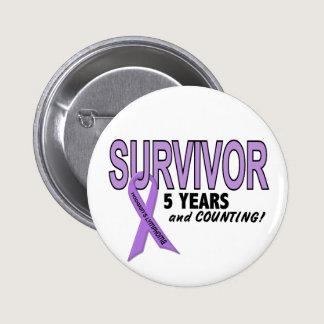 Hodgkins Lymphoma 5 Year Survivor Button