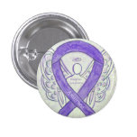 Hodgkins Lymphoma Art Angel Violet Ribbon Pins