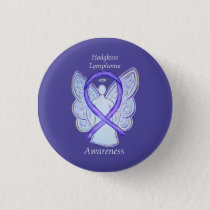 Hodgkins Lymphoma Art Angel Violet Ribbon Pins