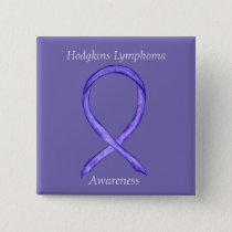 Hodgkins Lymphoma Art Violet Ribbon Custom Pins