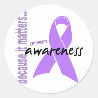 Hodgkins Lymphoma Awareness Classic Round Sticker