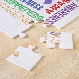 Hodgkin's Lymphoma  Awareness Collage Jigsaw Puzzle