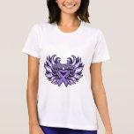 Hodgkin's Lymphoma  Awareness Heart Wings Tee Shirts