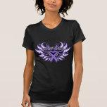 Hodgkin's Lymphoma  Awareness Heart Wings Tshirts