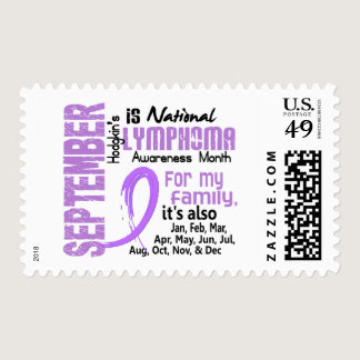 Hodgkin's Lymphoma Awareness Month For My Family Postage