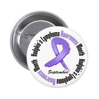 Hodgkins Lymphoma  Awareness Month Grunge  Ribbon Pinback Button