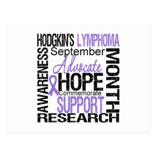 Hodgkins Lymphoma AWARENESS Month Tribute Postcard