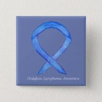 Hodgkins Lymphoma Awareness Ribbon Art Custom Pins