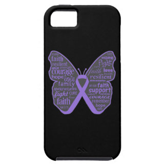 Hodgkins Lymphoma Butterfly Collage of Words iPhone 5 Covers