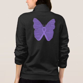 Hodgkins Lymphoma Butterfly Collage of Words v2 Jackets