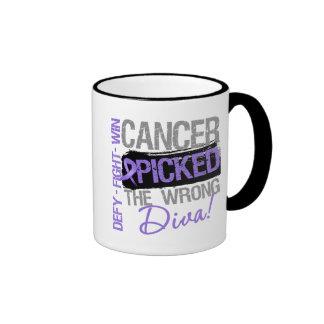 Hodgkins Lymphoma Cancer Picked The Wrong Diva Ringer Mug