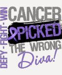 Hodgkins Lymphoma Cancer Picked The Wrong Diva T-Shirt