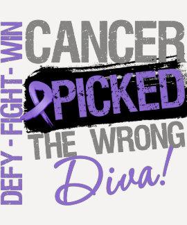 Hodgkins Lymphoma Cancer Picked The Wrong Diva Tshirt