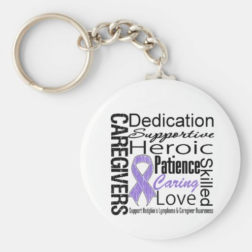 Hodgkins Lymphoma Caregivers Collage Keychains