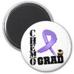 Hodgkin's Lymphoma Chemo Grad 2 Inch Round Magnet